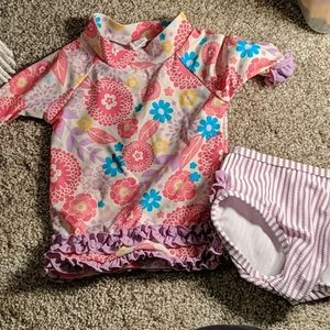 Ruffle Butts 2 PC bathing suit 6-12 months